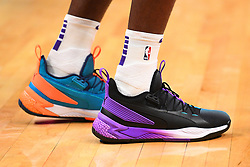 February 13, 2019 - Los Angeles, CA, U.S. - LOS ANGELES, CA - FEBRUARY 13: Phoenix Suns Center DeAndre Ayton (22) Puma shoes before a NBA game between the Phoenix Suns and the Los Angeles Clippers on February 13, 2019 at STAPLES Center in Los Angeles, CA. (Photo by Brian Rothmuller/Icon Sportswire) (Credit Image: © Brian Rothmuller/Icon SMI via ZUMA Press)