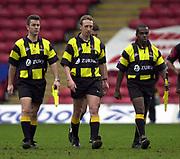 Watford, GREAT BRITAIN, 15th Feburary 2004, Vicarage Road, ENGLAND. [Mandatory Credit: Photo  Peter Spurrier/Intersport Images],<br /> 15/02/2004  -  Zurich Premiership, Saracens v Northampton Saints<br /> Referee S Leyshon