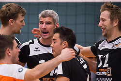 02-11-2014 GER: VfB Friedrichshafen - Berlin Recycling Volleys, Friedrichshafen<br /> Martin Krystof (#11 Berlin), Robert Kromm (#3 Berlin), Rob / Johannes Bontje (#17 Berlin), Kawika Shoji (#7 Berlin), Paul Carroll (#12 Berlin)<br /> <br /> ***NETHERLANDS ONLY***