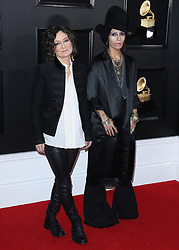 Sara Gilbert and Linda Perry at the 61st Grammy Awards at Staples Center on February 10, 2019 in Los Angeles, California. (Photo by Xavier Collin/PictureGroup). 10 Feb 2019 Pictured: Sara Gilbert, Linda Perry. Photo credit: Xavier Collin / MEGA TheMegaAgency.com +1 888 505 6342