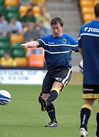 Photo: Ashley Pickering.<br /> Norwich City v Cardiff City. Coca Cola Championship. 01/09/2007.<br /> Robbie Fowler of Cardiff warms up before the start of the match