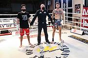 Muay Thai: Day of Destruction XIV, Hamburg, 12.12.2020<br /> Kevin Botz (grau/schwarze Hose) - Ali Shams (rote Hose)<br /> © Torsten Helmke