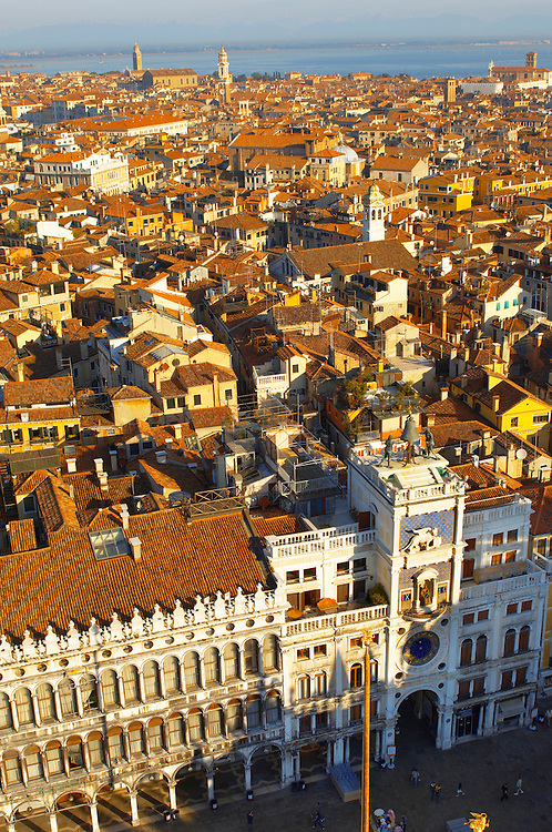 Arial View Of Bell Tower - Saint Mark's Square - Venice Italy. .<br /> <br /> Visit our ITALY HISTORIC PLACES PHOTO COLLECTION for more   photos of Italy to download or buy as prints https://funkystock.photoshelter.com/gallery-collection/2b-Pictures-Images-of-Italy-Photos-of-Italian-Historic-Landmark-Sites/C0000qxA2zGFjd_k