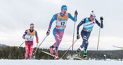 05.12.2015, Nordic Arena, NOR, FIS Weltcup Langlauf, Lillehammer, Herren, im Bild v.l.: Hans Christer Holund (NOR), Maxim Vylegzhanin (RUS), Francesco de Fabiani (ITA) // Hans Christer Holund of Norway, Maxim Vylegzhanin of Russian Federation, Francesco de Fabiani of Italy during Mens Cross Country Competition of FIS Cross Country World Cup at the Nordic Arena, Lillehammer, Norway on 2015/12/05. EXPA Pictures © 2015, PhotoCredit: EXPA/ JFK
