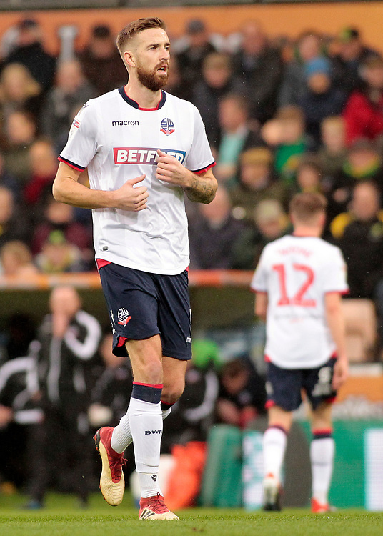Bolton Wanderers' Mark Beevers <br /> <br /> Photographer David Shipman/CameraSport<br /> <br /> The EFL Sky Bet Championship - Norwich City v Bolton Wanderers - Saturday 8th December 2018 - Carrow Road - Norwich<br /> <br /> World Copyright © 2018 CameraSport. All rights reserved. 43 Linden Ave. Countesthorpe. Leicester. England. LE8 5PG - Tel: +44 (0) 116 277 4147 - admin@camerasport.com - www.camerasport.com