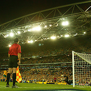 soccer  Australia V Uruguay  The ball hits the back of the net from John Aloisi to send Australai to the World Cup 2006..  LARGE FILE SIZE  171105 Tim Clayton SMH Sport SPECIALX SOCCER..soccer  Australia V Uruguay  The ball hits the back of the net from John Aloisi to send Australia to the World Cup 2006..  LARGE FILE SIZE  171105 Tim Clayton SMH Sport SPECIALX SOCCER
