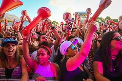 Público durante o show de Ego Kill Talent no Palco Complex durante a 22ª edição do Planeta Atlântida. O maior festival de música do Sul do Brasil ocorre nos dias 3 e 4 de fevereiro, na SABA, na praia de Atlântida, no Litoral Norte gaúcho.  Foto: André Feltes / Agência Preview