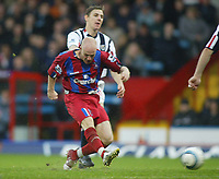 23/10/2004<br />FA Barclays Premiership - Crystal Palace v West Bromich Albion - Selhurst Park<br />Crystal Palace's Andy Johnson scores his second goal ahead of West Bromich Albion's Zoltan Gera.<br />Photo:Jed Leicester/Back Page Images
