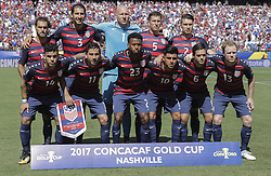 July 8, 2017 - Nashville, TN, USA - Nashville, TN - Saturday July 08, 2017: USMNT starting eleven during a 2017 Gold Cup match between the men's national teams of the United States (USA) and Panama (PAN) at Nissan Stadium. (Credit Image: © John Dorton/ISIPhotos via ZUMA Wire)
