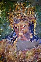 Inde, état de Maharashtra, Ajanta, grottes d'Ajanta classées au Patrimoine mondial de l'UNESCO, grotte N°1 // India, Maharashtra, Ajanta cave temple, Unesco World Heritage, cave N°1