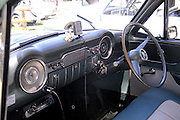 Interior Vauxhall car. <br /> 2011 Classic Car Show, Whiteman Park, Perth, Western Australia. March 20, 2011