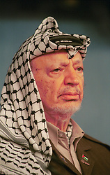 BRUSSELS, BELGIUM - MAY 31, 2001 - Yasser Arafat, leader of the PLO, visited the European Commission in Brussels, Thursday. (PHOTO © JOCK FISTICK)