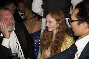 TERRY GILLIAM; LILY COLE; KWAME FERREIRA Luminous -Celebrating British Film and British Film Talent,  BFI gala dinner & auction. Guildhall. City of London. 6 October 2015.