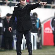 Gaziantepspor's coach Abdullah Ercan during their Turkish superleague soccer match Besiktas between Gaziantepspor at BJK Inonu Stadium in Istanbul Turkey on Tuesday, 05 January 2012. Photo by TURKPIX