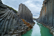 The Studlagil canion is famous for it´s basalt columns and popularity amongst Instagrammers.