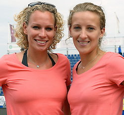 15-07-2014 NED: Persconferentie FIVB Grand Slam Beachvolleybal, Scheveningen<br /> Sanne Keizer en Sophie van Gestel