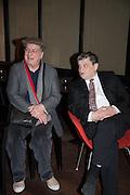 STEPHEN FREARS; NORMAN ROSETHALL, Liberatum Cultural Honour  for John Hurt, CBE in association with artist Svetlana K-Lié.  Spice Market, W London - Leicester Square