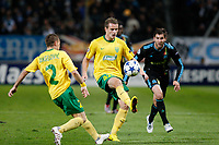 FOOTBALL - CHAMPIONS LEAGUE 2010/2011 - GROUP STAGE - GROUP F - OLYMPIQUE DE MARSEILLE v MSK ZILINA - 19/10/2010 - PHOTO PHILIPPE LAURENSON / DPPI - ROMAN GERGEL (ZIL)