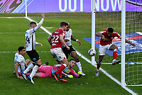 Football - 2020 / 2021 Sky Bet Championship - Swansea City vs Bristol City - Liberty Stadium<br /> <br /> Adrian Mariappa Bristol City clears the ball from the line  in a goalmouth melée<br /> <br /> <br /> COLORSPORT/WINSTON BYNORTH