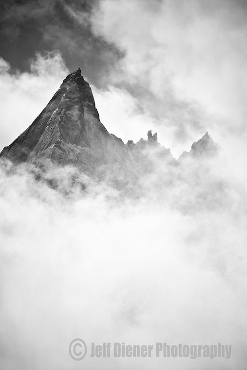 The Aiguilles Verte in Chamonix, France.
