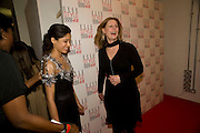 Freida Pinto; Sarah Brown, The Elle Style Awards 2009, The Big Sky Studios, Caledonian Road. London. February 9 2009.  *** Local Caption *** -DO NOT ARCHIVE -Copyright Photograph by Dafydd Jones. 248 Clapham Rd. London SW9 0PZ. Tel 0207 820 0771. www.dafjones.com<br /> Freida Pinto; Sarah Brown, The Elle Style Awards 2009, The Big Sky Studios, Caledonian Road. London. February 9 2009.