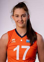 Noa de Vos of Netherlands, Photoshoot selection of Orange women's youth volleybal team season 2021on june 15, 2021 in Arnhem, Netherlands (Photo by RHF Agency/Ronald Hoogendoorn)