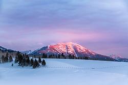 Mount Baldy Sunset in Swan Valley Idaho