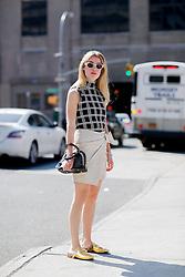 Street style, Annabel Rosendahl arriving at Boss Woman Spring Summer 2017 show held at Skylight Clarkson North, 550 Washington Street, in New York, USA, on September 14, 2016. Photo by Marie-Paola Bertrand-Hillion/ABACAPRESS.COM