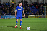 AFC Wimbledon defender Luke O'Neill (2) about to pass the ball during the EFL Sky Bet League 1 match between AFC Wimbledon and Burton Albion at the Cherry Red Records Stadium, Kingston, England on 28 January 2020.