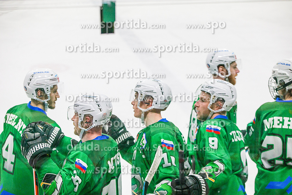 during the match of Alps Hockey League 2020/21 between HK SZ Olimpija Ljubljana vs. EC Bregenzerwald, on 09.01.2021 in Hala Tivoli in Ljubljana, Slovenia. Photo by Urban Meglič / Sportida
