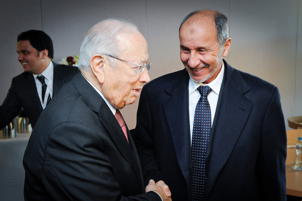 20111215 - Poland - Warsaw  - European Development Days  2011 - Bilateral - Mohamed Beji Caid Essebsi , Interim Prime Minister of Tunisia - Mustafa Mohammed Abdul Jalil , Chairman of the National Transition Council of Libya © European Union