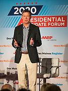 15 JULY 2019 - DES MOINES, IOWA: Governor JOHN HICKENLOOPER (D-CO) speaks at the first AARP Presidential Candidate Forum in Des Moines. The forum featured Senator Cory Booker, Governor John Hickenlooper, Senator Amy Klobuchar and Vice President Joe Biden. The AARP is hosting other forums for the rest of the Democratic field in other towns in Iowa this week. Iowa hosts the first event of the 2020 Presidential election cycle. The Iowa Caucuses are on February 3, 2020.       PHOTO BY JACK KURTZ