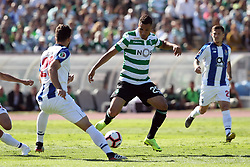 May 25, 2019 - Oeiras, Portugal - OEIRAS, PORTUGAL - MAY 25: Sporting's forward Luiz Phellype from Brazil (C ) vies with Porto's Brazilian defender Felipe (L) during the Portugal Cup Final football match Sporting CP vs FC Porto at Jamor stadium, on May 25, 2019, in Oeiras, outskirts of Lisbon, Portugal. (Credit Image: © Pedro Fiuza/NurPhoto via ZUMA Press)