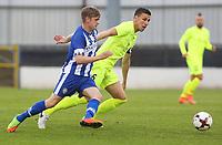 Fotball  - 6th July 2017.  Press Eye Ltd -<br />  - Europa Cup First Qualifying Round 2nd Leg Coleraine (NIR) FK Haugesund (NOR)<br /> <br /> Coleraine's Ciaron Harkin and FK Haugesund's Filip Kiss.<br /> <br /> Norway only