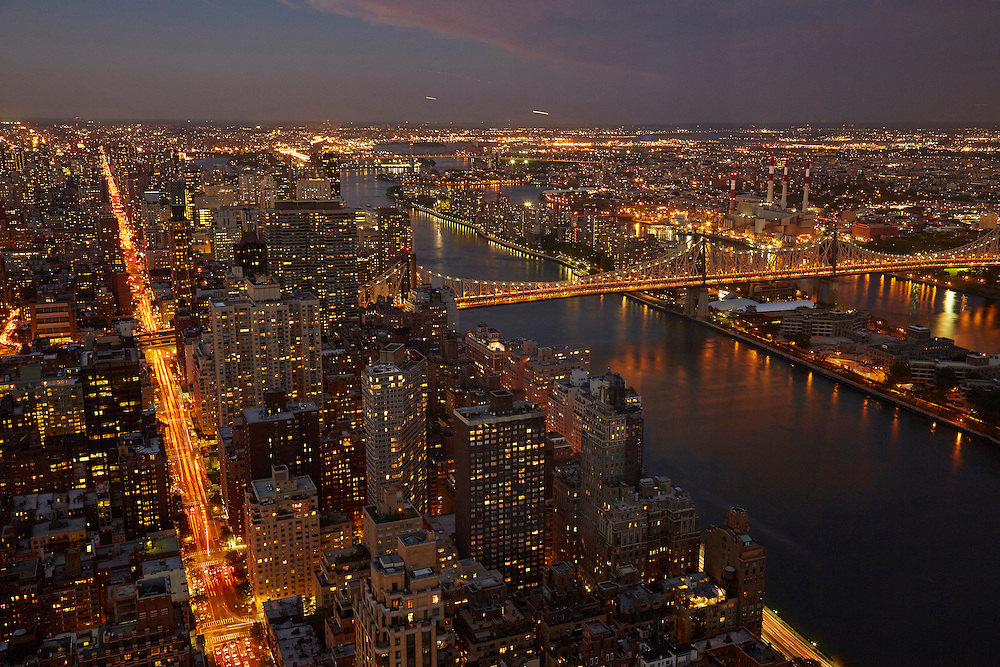 View of the East River and Queensboro Bridge from 845 United Nations Plaza, 86th floor