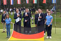 HILVERSUM - Germany wins the final from Sweden (2-1) . Marc Hammer , Nick Bachem,  Jannik de Bruyn. and Matthias Schmid.   ELTK Golf 2020 The Dutch Golf Federation (NGF), The European Golf Federation (EGA) and the Hilversumsche Golf Club will organize Team European Championships for men.  COPYRIGHT KOEN SUYK