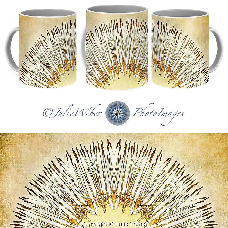 Coffee Mug Showcase   55 - Shop here: https://2-julie-weber.pixels.com/products/cattail-mandala-julie-weber-coffee-mug.html