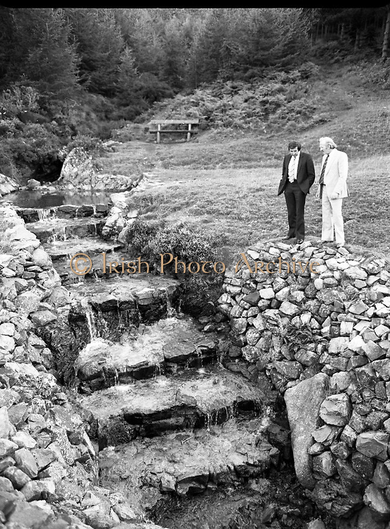 """The Carlingford Oyster Festival.1982.19.08.1982..08.19.1982.19th August 1982..Pictures and Images of the Carlingford Oyster Festival... The Minister For Fisheries and Forestry Mr Brendan Daly officially opened  The Carlingford Oyster Festival. The Chairman of the organising committee was Mr. Joe McKevitt..""""The Oyster Pearl"""" was Ms Deirdre McGrath..The Minister takes in the local sites."""