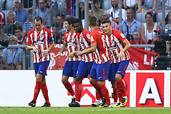August 1, 2017 - Munich, Germany - Fernando Torres of Atletico de Madrid celebrating with the teammates the goal of 1-1 durign the first Audi Cup football match between Atletico Madrid and SSC Napoli in the stadium in Munich, southern Germany, on August 1, 2017. (Credit Image: © Matteo Ciambelli/NurPhoto via ZUMA Press)