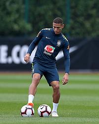 Brazil's Richarlison during the training session at London Colney, Hertfordshire.