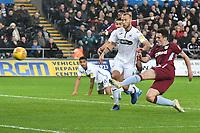 Football - 2018 / 2019 Championship - Swansea City vs Aston Villa<br /> … at the Liberty Stadium.<br /> <br /> John McGinn of Aston Villa shoots at goal  21st minute <br /> <br /> Credit: COLORSPORT/Winston Bynorth