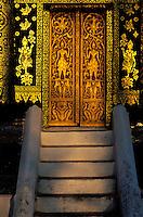 Laos - Luang Prabang - Wat Xieng tong - Porte