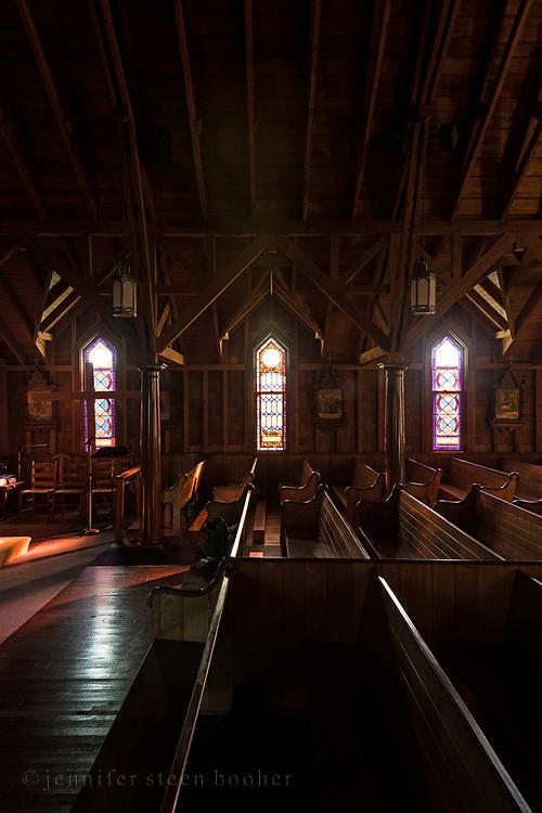 Windows 10-12.<br /> <br /> St. Ignatius of Loyola Catholic Church, Northeast Harbor, Maine.