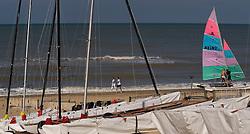 Beach scene in De Haan, Belgium, Sunday, Sept. 14, 2008. (Photo © Jock Fistick)
