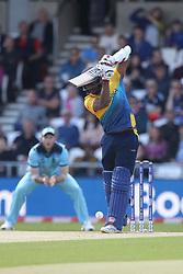 June 21, 2019 - Leeds, Yorkshire, United Kingdom - Avishka Fernando of Sri Lanka batting during the ICC Cricket World Cup 2019 match between England and Sri Lanka at Headingley Carnegie Stadium, Leeds on Friday 21st June 2019. (Credit Image: © Mi News/NurPhoto via ZUMA Press)