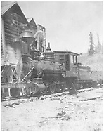 RGS 2-8-0 #1 with a gondola.<br /> RGS