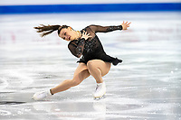KELOWNA, BC - OCTOBER 25:  Canadian figure skater Alicia Pineault competes at Skate Canada International in the ladies short program at Prospera Place on October 25, 2019 in Kelowna, Canada. (Photo by Marissa Baecker/Shoot the Breeze)
