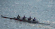 Chiswick, London, Great Britain.<br /> Kingston RC. School/Jun Quad, competing at the <br /> 2016 Schools Head of the River Race, Reverse Championship Course Mortlake to Putney. River Thames.<br /> <br /> Thursday  17/03/2016<br /> <br /> [Mandatory Credit: Peter SPURRIER;Intersport images]