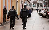 05.01.2015 Bialystok n/z patrol strazy miejskiej fot Michal Kosc / AGENCJA WSCHOD