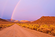 Rainbow over Buttermilk Country, Sierra Nevada Mountains, Bishop, California